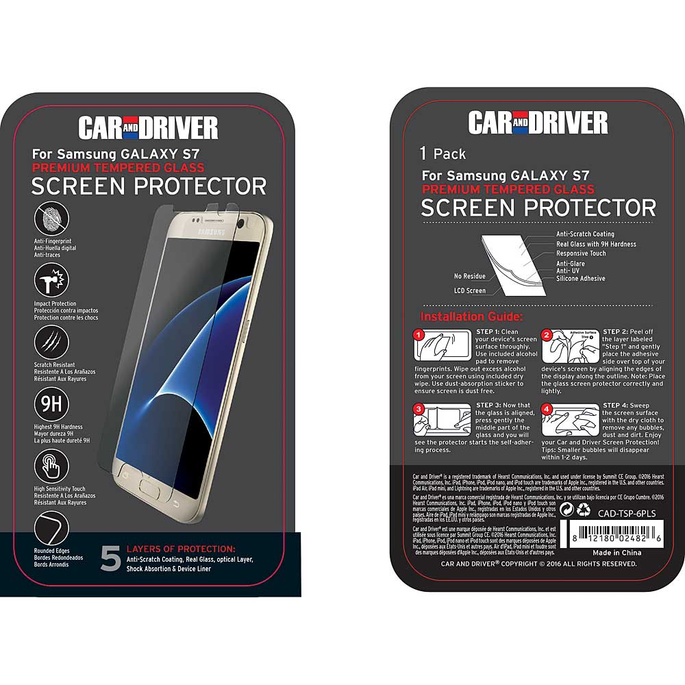 half off 8b2d2 43152 CAR AND DRIVER Premium Tempered Glass Screen Protector for Samsung ...