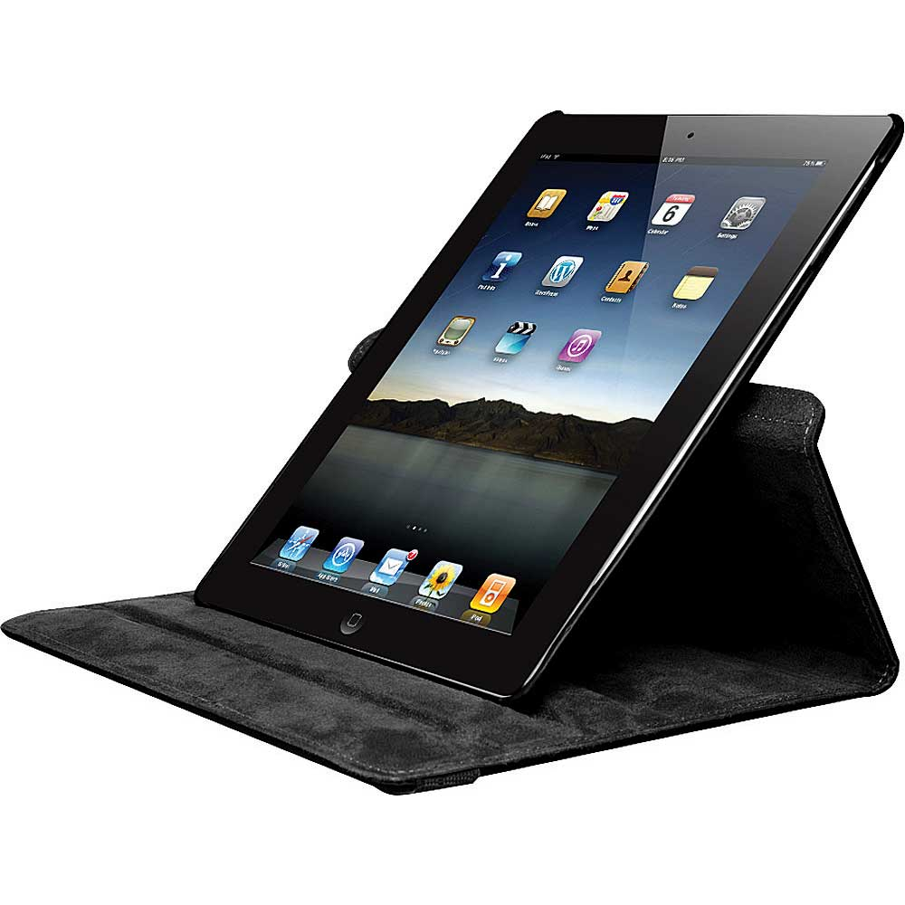 Hype Swivel Folio Case For New Ipad 2 Black Fesco Distributors Rotating 360 Degree Leather 3 4